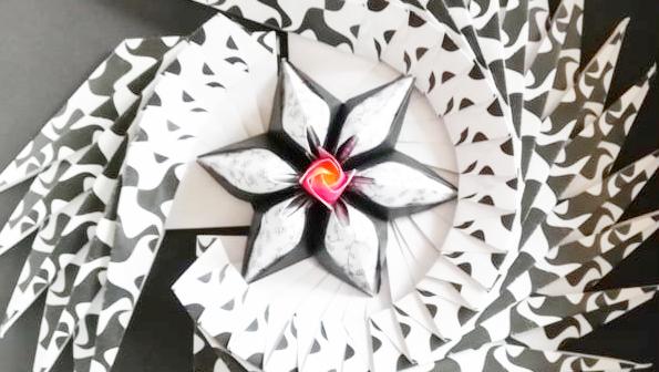 Origami hajtogatott virág